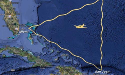 Раскрыта причина исчезновения самолетов в Бермудском треугольнике